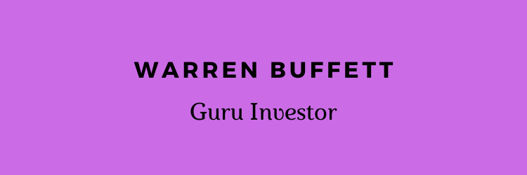Warren Buffett Text banner